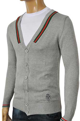 GUCCI Men's V-Neck Button Up Sweater #48