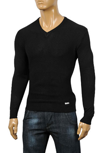 VERSACE V-Neck Body Men's Sweater #11